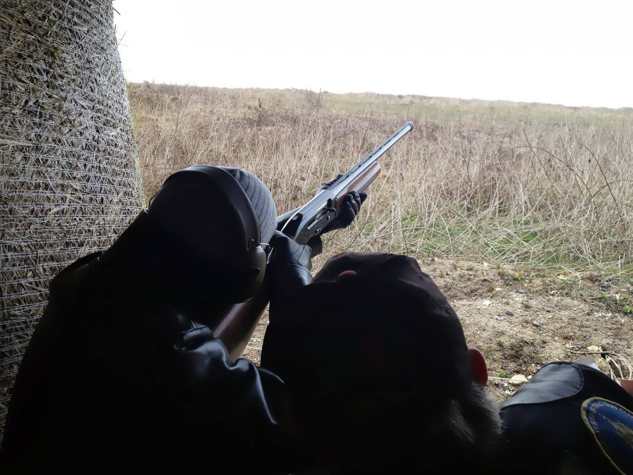 waiting for clay pigeon to shoot near brighton